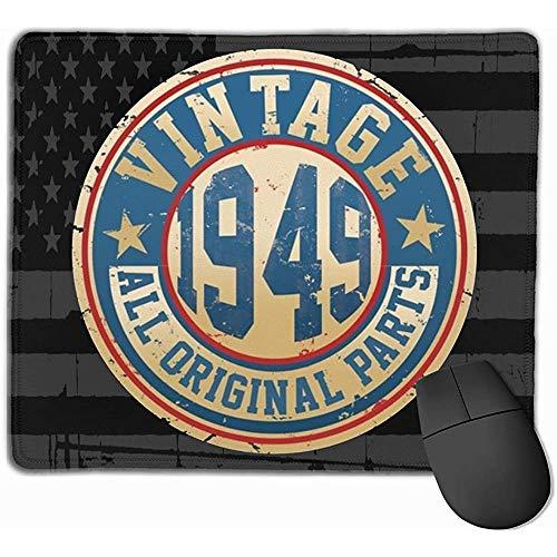 Vintage 1949 Alle Originele Onderdelen 70e Verjaardag Muis Pads Niet Slip Gaming Muis Pad Mousepad