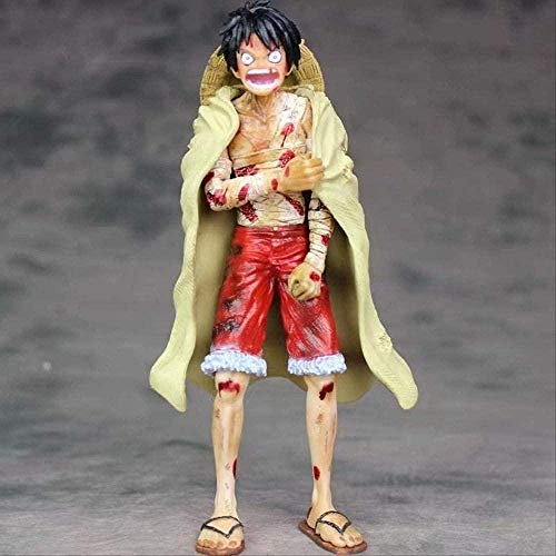 One Piece Monkey D. Luffy 20cm Anime Four Kings Cake Island Battle Damage PVC Anime Figura Figuras...