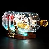 SENG Juego de iluminación LED para barco en botella, compatible con Lego 21313 (modelo no incluido)