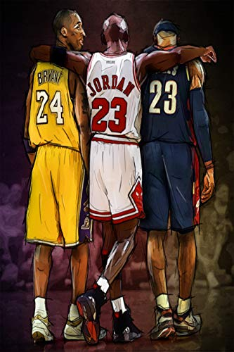 Tainsi Michael Jordan Kobe y James Legends Fan-Tribute-Poster, 30 x 46 cm