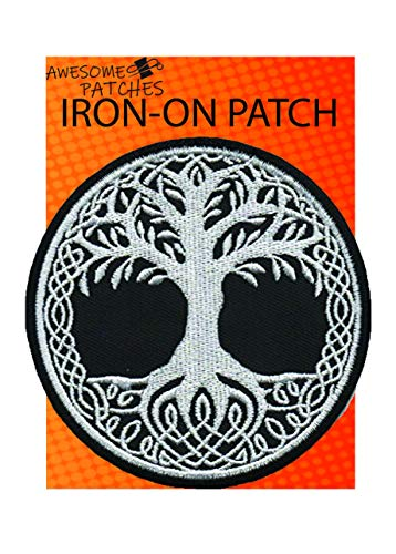 Iron on Patches - Yggdrasil The Tree of Life in Norse Mythology Iron-on sew-on Patch Applique K-38