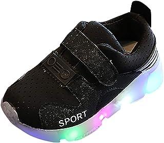 Escarpins avec lumi/ères clignotantes Chaussures de sport Elsa Anna pour filles Disney