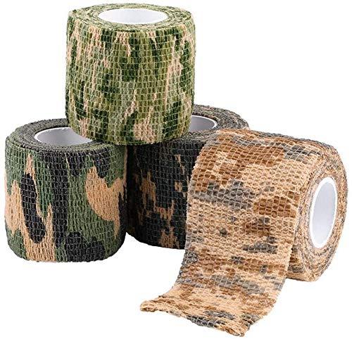 Preisvergleich Produktbild ASEOK Gewebeband,  Camouflage-Klebeband,  Camouflage-Klebeband für Pistolen,  Tarnmuster,  Stretch-Klebeband für die Jagd,  Camouflage,  strapazierfähig und wiederverwendbar,  Länge 4, 5 m