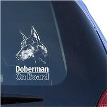 Doberman Clear Vinyl Decal Sticker for Window, Dobermann Pinscher Dog Sign Art Print