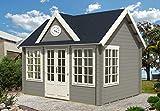 ✔️ 44 mm WANDSTÄRKE: Gartenhaus mit hochwertigen 44 mm starken Blockbohlen. Die 4-fach Eckausfräsung gewährt eine besonders hohe Wind- und Regendichtigkeit. Wir verwenden ausschließlich besonders hochwertiges Fichtenholz für das Gerätehaus. ✔️MASSIVE...