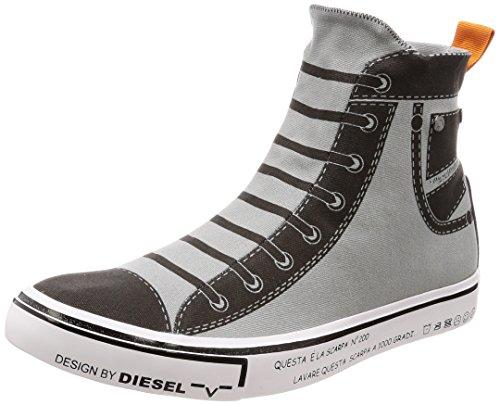 Diesel Sneaker High (40 EU, Grau - Schwarz)