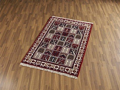 Klassischer Indischer handgeknüpfter BACHTIAR Teppich Läufer 80 x 300 cm Farbe: bunt
