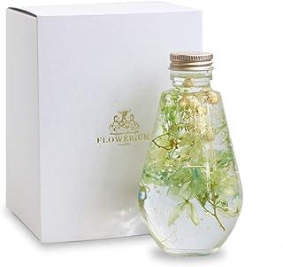 [フラワリウム]贈り物 フラワーギフト 誕生日プレゼント ハーバリウム 女性 母の日 ドロップボトルグリーン