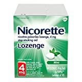 Nicorette 4mg Nicotine Lozenges to Quit Smoking - Mint Flavored Stop Smoking Aid, 144 Count