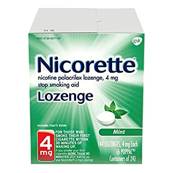 Nicorette 4mg Nicotine Lozenges to Quit Smoking - Mint Flavored Stop Smoking Aid 144 Count