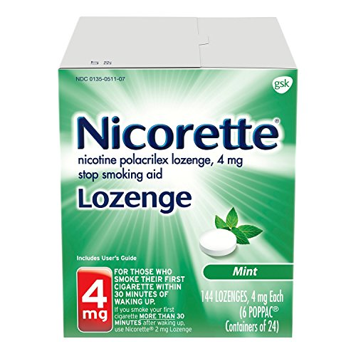 Nicorette Nicotine Lozenge To Quit Smoking, Mint Flavored Stop Smoking aid, 4mg, 144Count