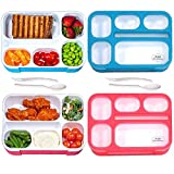 Bento Lunch Box for Adults & Kids 2-Pack - Leak-Proof, BPA-Free, Reusable Bento Box, Spoon, Fork for...