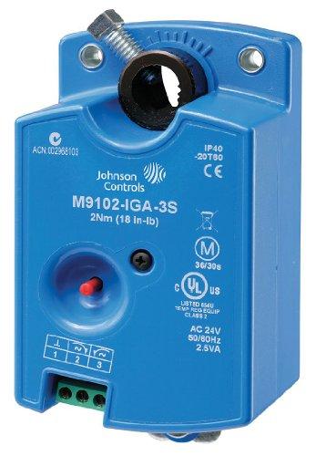 Johnson Controls M9102-AGA-3S Series M9102 Electric Non-Spring-Return Actuator, Floating Control, 2 Nm Torque, M3 Screw Terminals