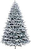 TongN Las Decoraciones Artificiales de árboles de Navidad Son livianas con Cremallera y cinturón de Nieve Flocado con Respaldo de Metal denso (Color : A, Size : 300cm/10ft)