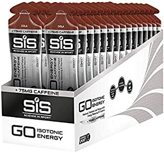 SCIENCE IN SPORT Energy Caffeine Gels, 22g Fast Acting Carbohydrates, Performance & Endurance Sport Energy Gels with 75mg of Caffeine, Cola - 2 oz - 30 Pack