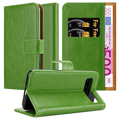 Cadorabo Funda Libro para Samsung Galaxy S10 en Verde Hierba - Cubierta Proteccíon con Cierre Magnético, Tarjetero y Función de Suporte - Etui Case Cover Carcasa