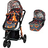 Cosatto Giggle 3 Pram & Pushchair – From Birth to 18kg, Lightweight, Compact, Flat-Fold (Charcoal Mister Fox)