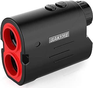 WAKYME Rangefinder, Golf & Hunting Range Finder, 650/1000Yards 6X Laser Range Finder with Slope, Fast Flag-Lock, Angle Measurement, Speed, Scan, Laser Rangefinders with Low Battery Indicator