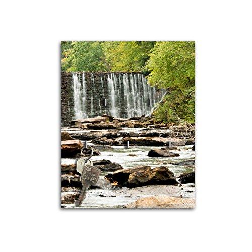 Dalinda Porte-clés Mural avec Design ruisseau dans la forêt Clé Board Crochets Porte-clés sB394