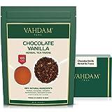 VAHDAM, Chocolate Vanilla Té de hierbas Tisane-200g/ 100 + tazas / Rooibos + CHOCOLATE hecho a mano + Cremoso VANILLA té de hojas sueltas / 100% Pure & Natural / Nuevo chocolate favorito Indulgence