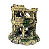 M2cbridge Antiguo Columna Romana Ruinas Castillo Europeo Decoraciones Acuario Peceras Escondite Rocas (Ruinas Romanas B)