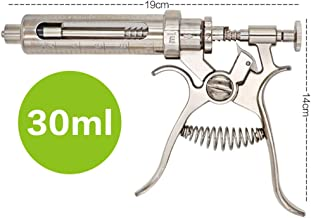 BJYX 10-50 ml Continuous Syringe Automatic Adjustable Multifunction Stainless Steel Farm Tool Suitable for Chickens Ducks Cattle Sheep Pigs,30ml