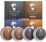 Beard Balm Conditioner 4 Pack - Natural Variety...