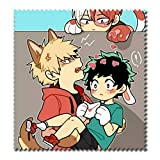 Raleighsee My Hero Academia Anime Cartoon Characters HD Printing Cotton Glasses Cloth Super Soft Superfine Fiber Cleaning Cloth for Glasses TV Screen(Style2)