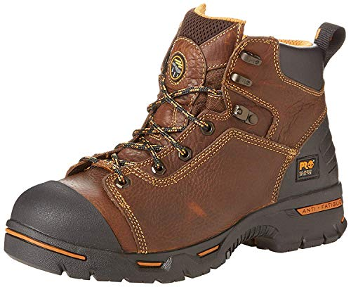 Timberland PRO Men's Endurance PRO Waterproof 6' Work Boot,Rancher Brown,10 M