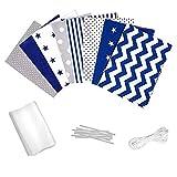 Supertong DIY Mundschutz Stoff Set, Selbstgemacht Gesichtsschutz Material Set, 8 Stern Drucken...