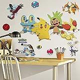 RoomMates XY Pokemon Room Decor Bundle ~ 22 Pokemon Wall Decals with Classic Pokemon Poster Book and Stickers (Pokemon Wall Decor)