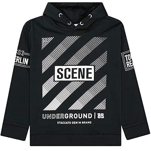Staccato Jungen Sweatshirt mit Kapuze Scene - kuschelig und bequem - Größe 164 - schwarz