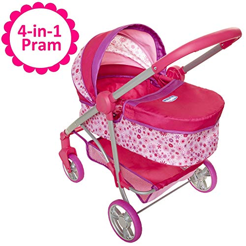Chicco Baby Doll Stroller, 4-in-1 Pram/Stroller Gift Set, For Baby Dollsup To 18