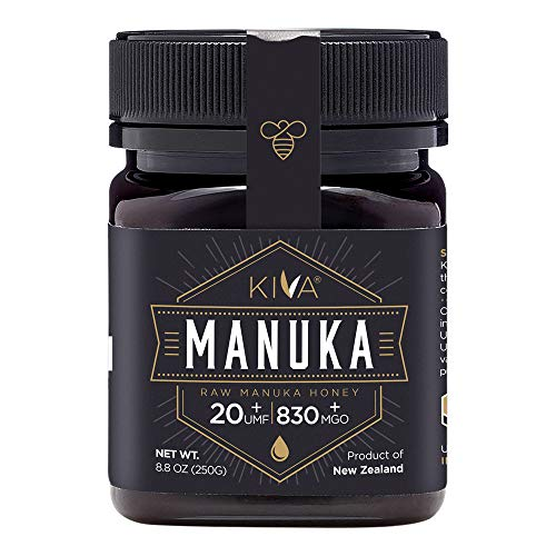 Kiva Raw Manuka Honey, Certified UMF 20+ (MGO 830+), New Zealand (8.8 oz Bottle)