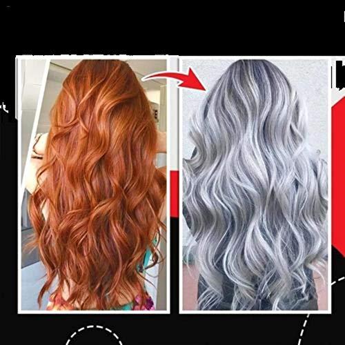 100/300 Ml Unisex DIY Smokey Grey Permanent Hair Dye Gel Langlebige Haarfärbemittel Zu Hause Graue Farbstoff Hair Creme, Silber Haare Nährende Unterschiedliche...