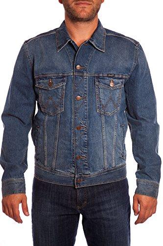 Wrangler Herren Jeans Jake W4481514V WESTERN DENIM JACKET, Gr. XXX-Large, Blau (MID STONE)