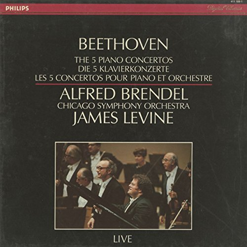 Ludwig van Beethoven / Alfred Brendel / James Levine / The Chicago Symphony Orchestra - The Five Piano Concertos (Live) - Philips - 411 189-1, Philips Digital Classics - 411 189-1