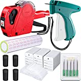 1121 Pieces Price Tags for Clothing Price Marking Labeler Clothes Garment Label Machine Pricing Attacher Applicator Plastic Fasteners Barbs Roll Ink Rollers Tags Needles Sticker (Classic Colors)