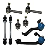 Detroit Axle - Complete 8-Piece Front Suspension Kit Ford Explorer - 10-Year Warranty - 2-Piece Upper Control Arms & Ball Joint, 2 Lower Ball Joints - Torsion Bar Suspension Models Only……