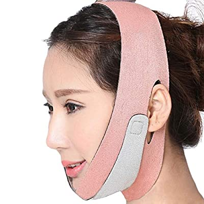 1Pcs V Line Mask, Face Lift Band Facial Slimming Double Chin Strap Weight Loss Belts Skin Care Chin Lifting Firming Wrap (Orange) by HIGGER