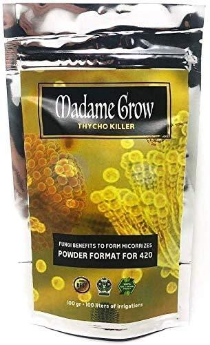 MADAME GROW Thrycho Killer - Thricodermas para Marihuana - Forma Micorrizas - Hongos beneficiosos coloniza el Suelo de tu Planta - Mejora el Rendimiento y la absorción (100 Gramos)