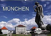 Muenchen - Die Schoene (Wandkalender 2022 DIN A2 quer): Muenchen - Die Hauptstadt Bayerns (Geburtstagskalender, 14 Seiten )