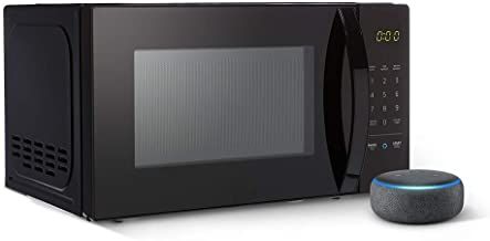 Amazon Basics Microwave bundle with Echo Dot (3rd Gen) - Charcoal