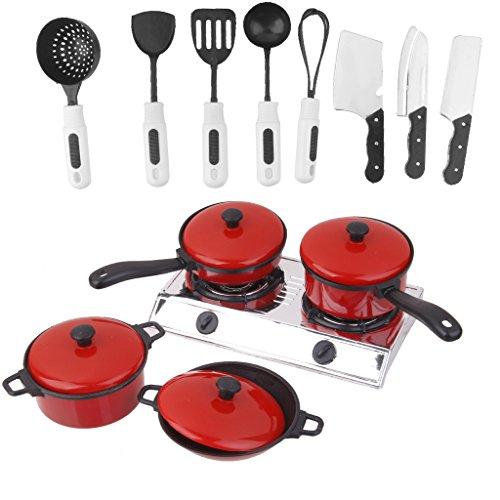 Homyl Kinderküche Küchenwerkzeug Spielzeug Kochtopf-Set Löffel / Messer / pan / Pot / Gasherd, usw.