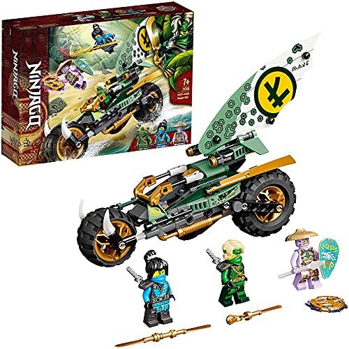 WOMEN 71745 Ninjago Chopper de la Jungla de Lloyd Juguete de construcción con una Moto y Mini Figuras de Lloyd y NYA