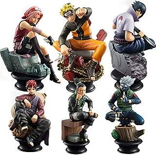 Grocoto Action & Toy Figures - 6pcs/Set Naruto Action Figures Dolls Chess New PVC Anime Naruto Sasuke Gaara Model Figurines for Decoration Collection Gift Toys 1 PCs