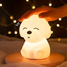 Night Light For Kids Cute Night Light  - Portable Color Changing Silicone Baby Nightlight For Children, Baby and Toddler, ...