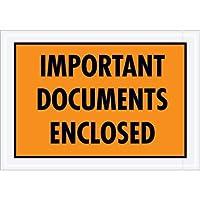 Aviditi PL421 Envelope Important Documents Enclosed 5-1/4 Length x 7-1/2 Width Orange (Case of 1000) [並行輸入品]