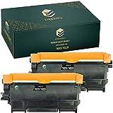 EMBRIIO 2x TN-2010 TN-2220 Cartucho Tóner Reemplazo para Brother HL-2250DN HL-2130 DCP-1610W HL-2270DW MFC-7360N HL-2135W DCP-7055W HL-2240 MFC-7860DW DCP-7065DN HL-2240D FAX-2840 DCP-7070DW DCP-7060D
