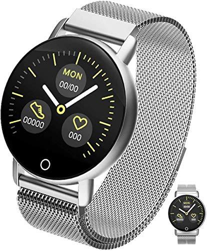 JSL Reloj inteligente de moda reloj inteligente con IP67 impermeable/notificación de llamadas/contador de pasos de calorías/pantalla táctil completa rastreador de actividad de actividad